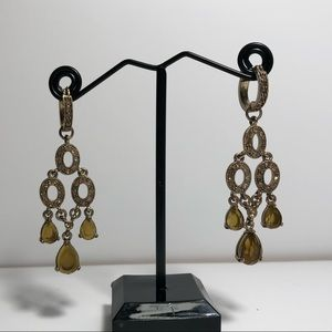 Jewelry - Citrine and Gold Colored Earrings
